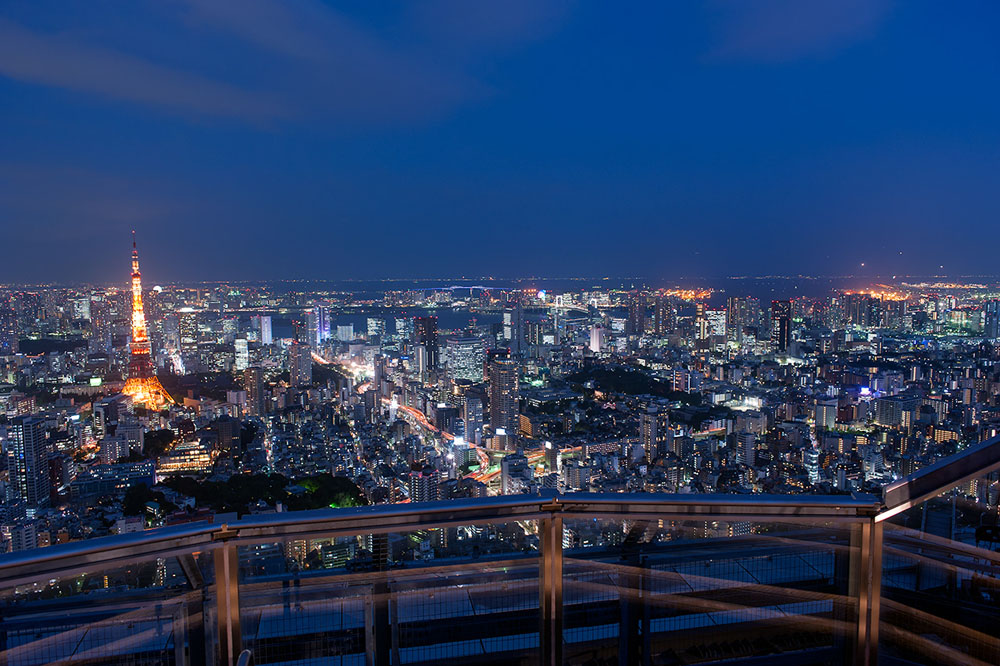 Night View From Roppongi Hills Sky Deck