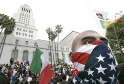 Marcha estudiantil, en Los Angeles