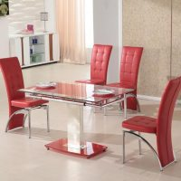 Extendable Dining Table Set + 4 Chairs