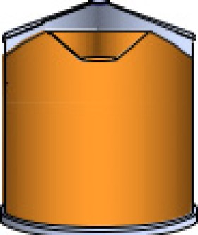 Figure 1. An illustration of a cored bin after the fines and broken corn has been pulled from the center, enabling better airflow during aeration (Figure is courtesy of Dr. Sam McNeill, University of Kentucky).