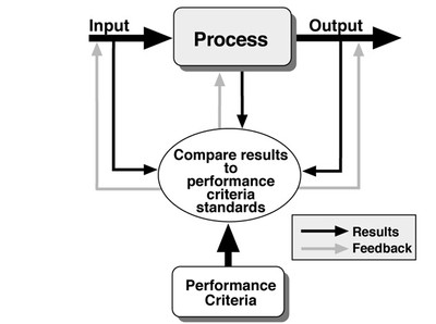 Comparing process results to performance criteria