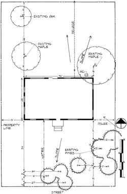 Base map landscape drawing