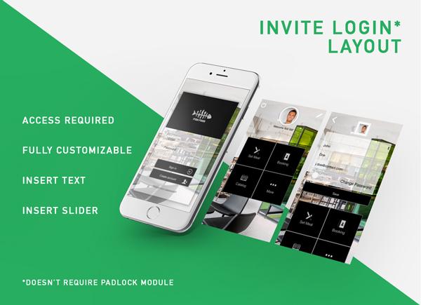 Invita layout di accesso