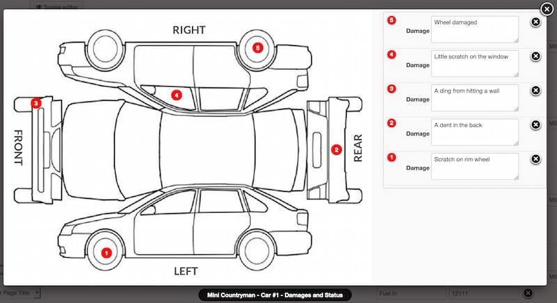Car Rental Damage Inspection Form Vehicle Damage Inspection Form Template Bing images 11 014