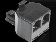 HAMA Modular Splitter, 6p4c plug - 2 6p4c sockets - (00044856)
