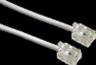 HAMA Modular Cable, 6p4c plug - 6p4c plug, 10 m, white - (00044491)