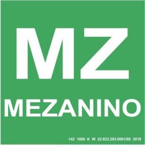 Placa de Sinalização - Mezanino