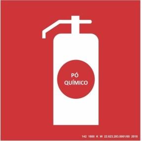 Placa de Sinalização - Pó Químico