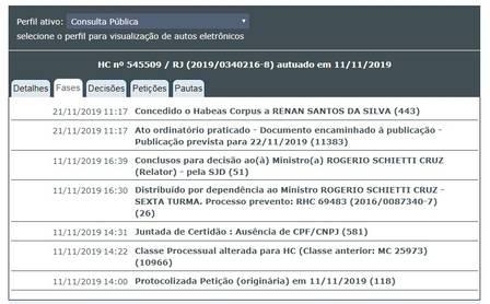 Habeas Corpus foi protocolado há dez dias