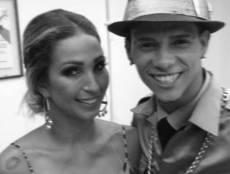 O dançarino com Valeska Popuzada