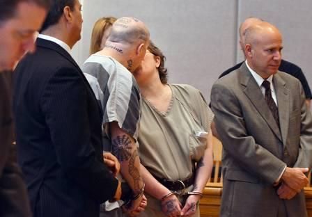 Jeremy e Christine Moody trocaram um beijo após ouvir a sentença