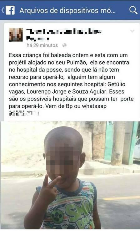 Familiares pediram nas redes sociais que Diogo conseguisse transferência