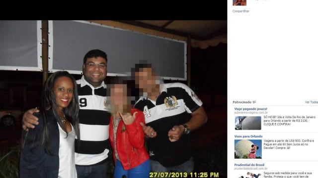 João Maurício Gomes da Silva e sua mulher, Thaisa, em foto postada numa rede social no dia em que ela estaria internada, respirando com a ajuda de aparelhos: PF descobriu a fraude