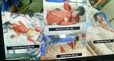 Os quatro bebês nasceram em 30 de dezembro