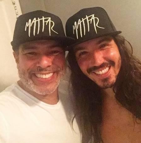 Maurício Mattar com o filho Luã