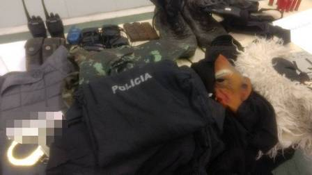 Parte do material apreendido pela Polícia Civil em operação no mês passado