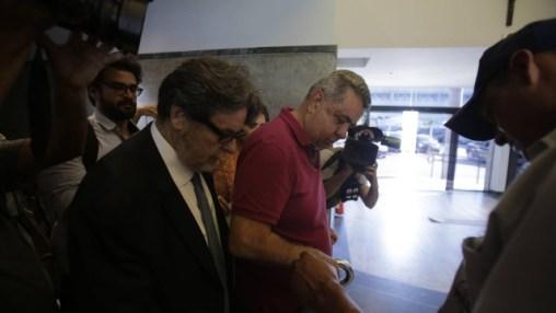 O presidente da Alerj, deputado Jorge Picciani, se entregou na tarde desta quinta-feira