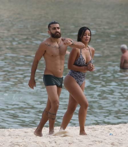 O casal passou um final de semana romântico em Búzios