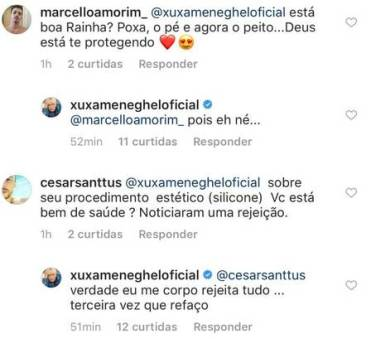 Xuxa responde fãs