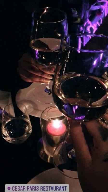 Liza Brito jantou num dos restaurantes preferidos de Neymar em Paris