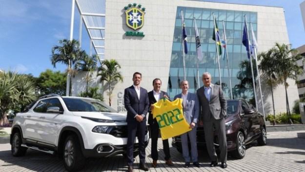 CBF fecha com a Fiat como nova patrocinadora da seleção brasileira