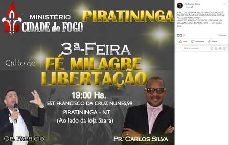 Panfleto postado nesssa terça-feira por Carlos