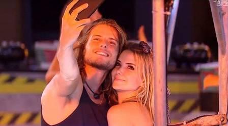 Daniel e Marcela durante o