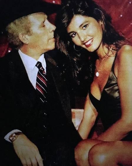 Roberta Close com o cantor Waldick Soriano: romance