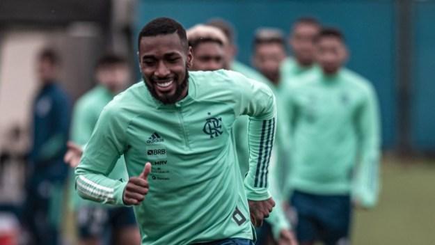 Gerson treina no Flamengo