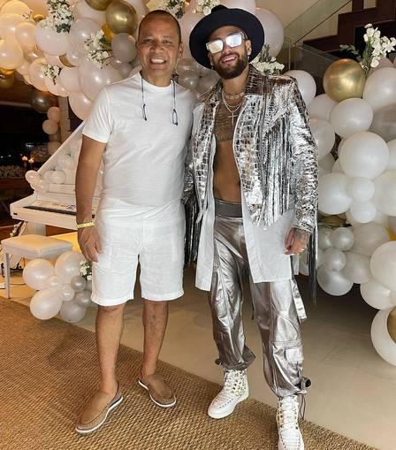Neymar com o pai