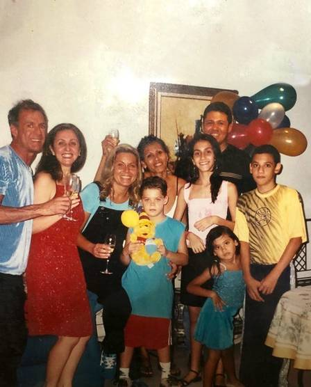 Pocah e a mãe na casa de de Vera Fischer