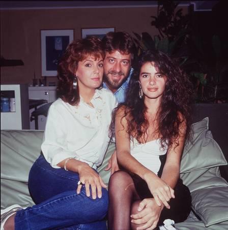 Luma com Elaine Cristina e Flávio Galvão na novela