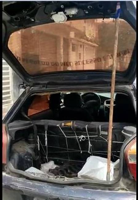 Lourival's car: gambiarra, but it goes