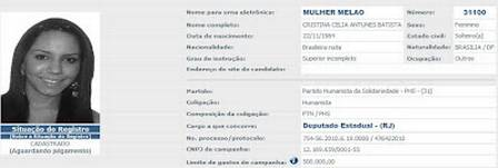 Mulher Melão was a candidate for federal deputy in 2010