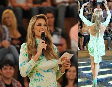 Fernanda Lima arrasa com vestidinho curto e costas de fora em