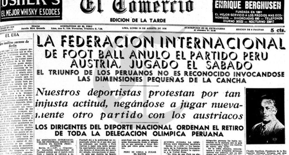 Hitler e Peru: protesto nos jornais contra a alegação dos austríacos.
