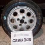 Recuperan una rueda de auxilio robada en el sur de la Capital