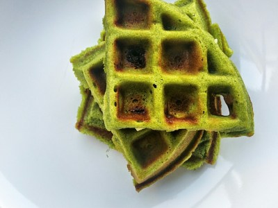 White Chocolate Matcha Belgium waffle