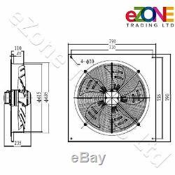 600mm Industrial Ventilation Metal Fan Axial Commercial