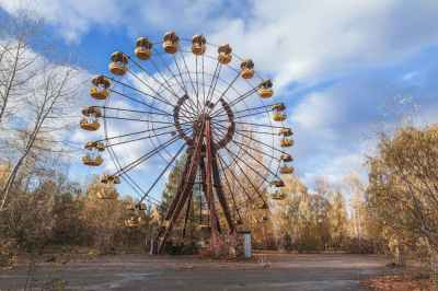 Amusement-park-in-abandoned-city-of-Pripyat-in-Chernobyl-exclusion-zone