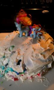 Rainbow Pony Cake - AFTER I made it look better
