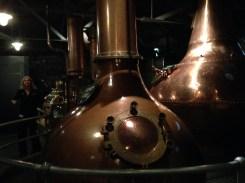 The massive stills for the whiskey.