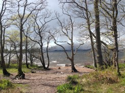 Loch Lomond and the storm rolling over it.