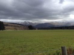 The Crianlarich Hills in the distance.