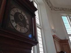 Gorgeous grandfather clocks on display.