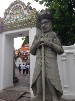 A statue of Marco Polo at Wat Pho.