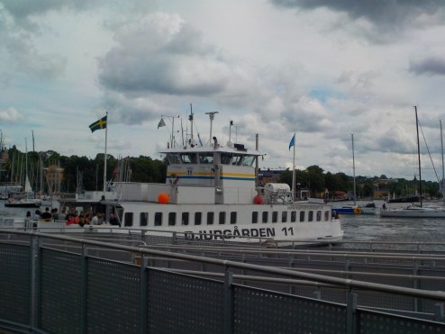 The Djurgarden ferry.