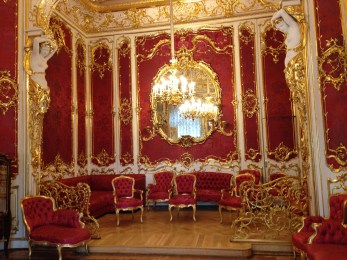 One of the few state rooms on display in the Winter Palace.
