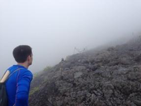 Jeff assessing the climb ahead.