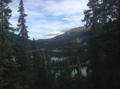 Horseshoe Lake from the crest of the trail.